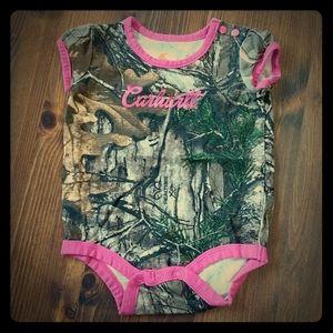 Carhartt Baby Girl Onesie Camouflage 6 Months